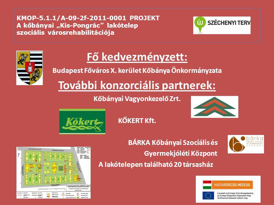 """KMOP-5.1.1/A-09-2f-2011-0001 PROJEKT A kőbányai """"Kis-Pongrác lakótelep szociális városrehabilitációja A projekt elemei: Építés, kivitelezés Közterület-megújítás"""