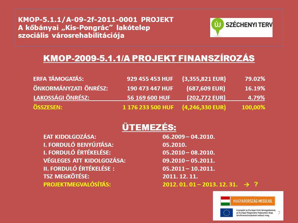 """KMOP-5.1.1/A-09-2f-2011-0001 PROJEKT A kőbányai """"Kis-Pongrác lakótelep szociális városrehabilitációja A """"soft elemek tartalmát meghatározták: Akcióterületi Terv (ATT) Szociológiai Tanulmány – része az ATT-nek Közösségfejlesztési javaslatok BÁRKA reprezentatív szociológiai felmérése Kőbánya Szociális térképe"""