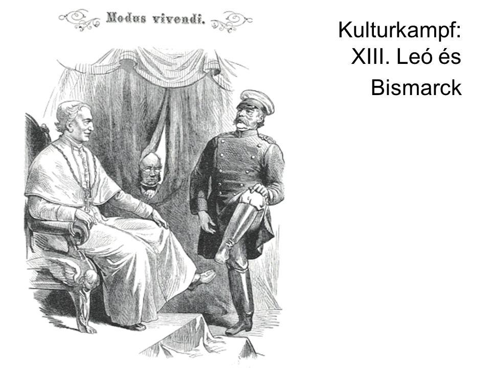 Bismarck az 1880-as években Konzervatívabb időszak Szociáldemokrata párt megerősödése (August Bebel) I.
