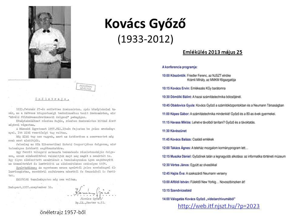 Kovács Győző (1933-2012) önéletrajz 1957-ből Emlékülés 2013 május 25 http://web.itf.njszt.hu/?p=2023