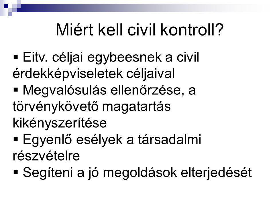 Miért kell civil kontroll.  Eitv.