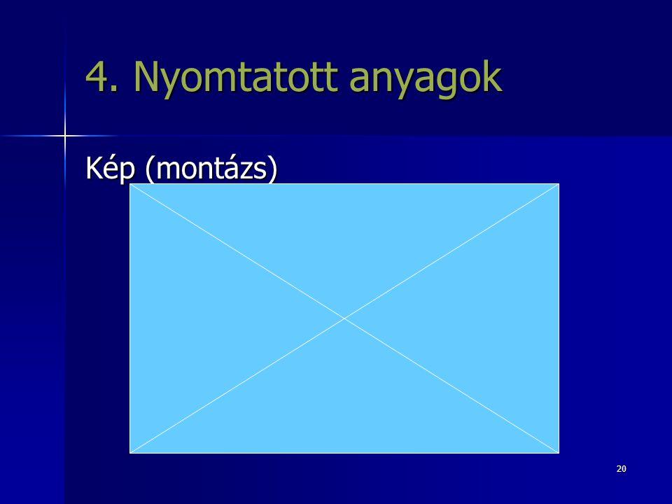 20 4. Nyomtatott anyagok Kép (montázs)