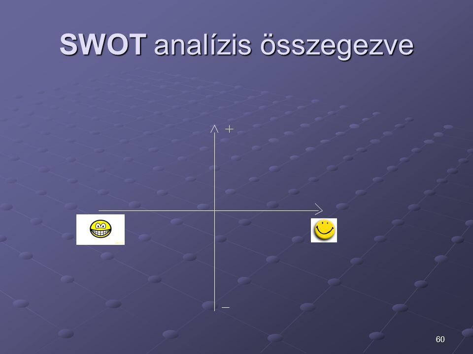 60 SWOT analízis összegezve