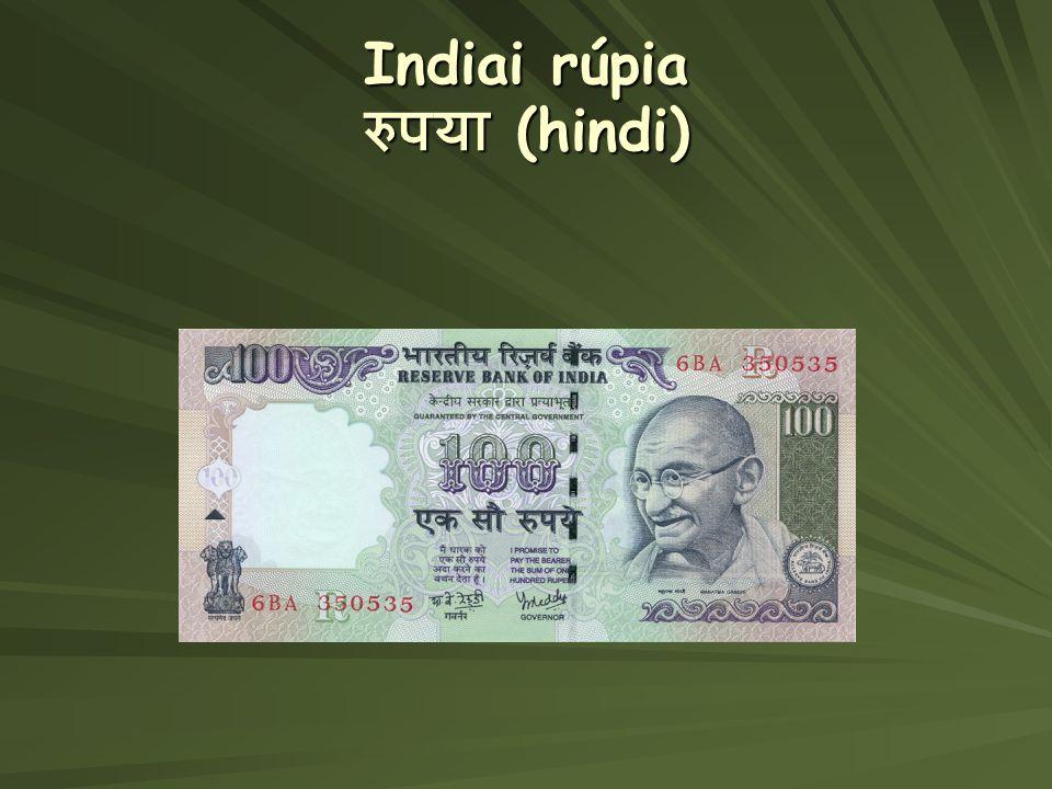 Indiai rúpia रुपया (hindi)