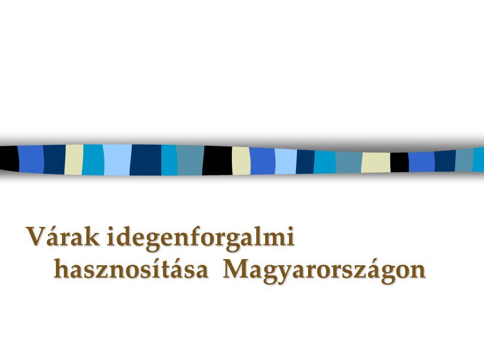 Várak idegenforgalmi hasznosítása Magyarországon Várak idegenforgalmi hasznosítása Magyarországon