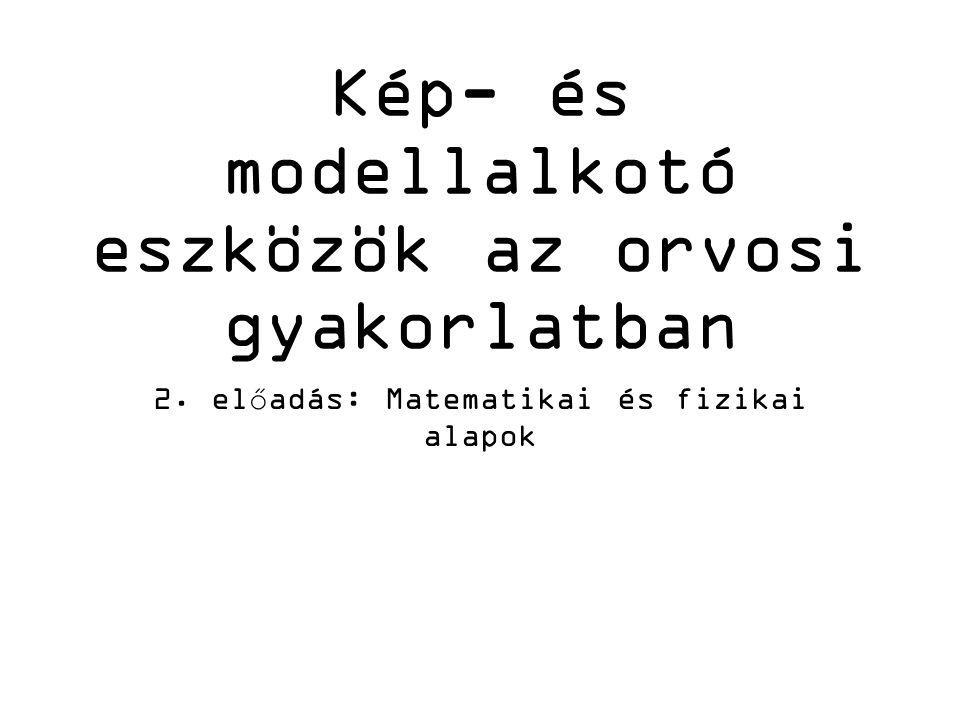 Kép- és modellalkotó eszközök az orvosi gyakorlatban 2. előadás: Matematikai és fizikai alapok