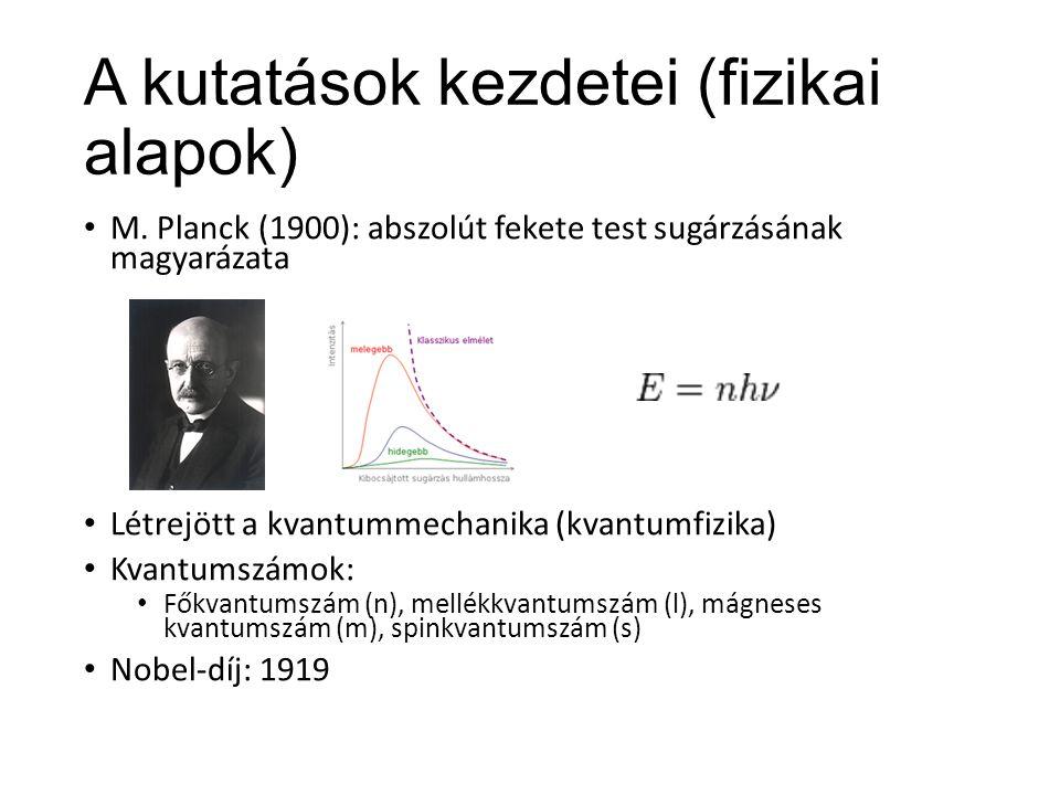 A kutatások kezdetei (fizikai alapok) M.