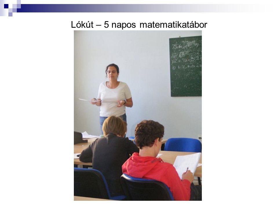 Lókút – 5 napos matematikatábor