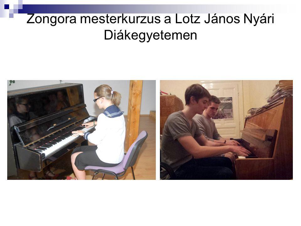 Zongora mesterkurzus a Lotz János Nyári Diákegyetemen