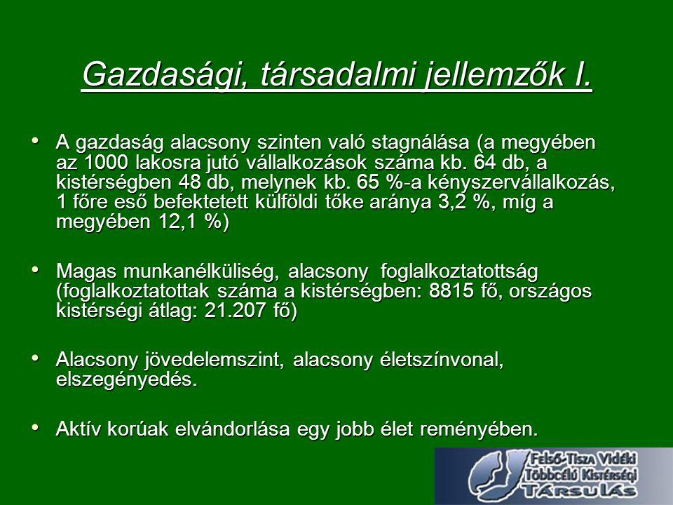 Gazdasági, társadalmi jellemzők I.