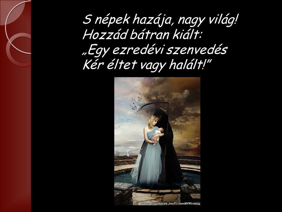 Az nem lehet, hogy annyi szív Hiába onta vért, S keservben annyi hű kebel Szakadt meg a honért.