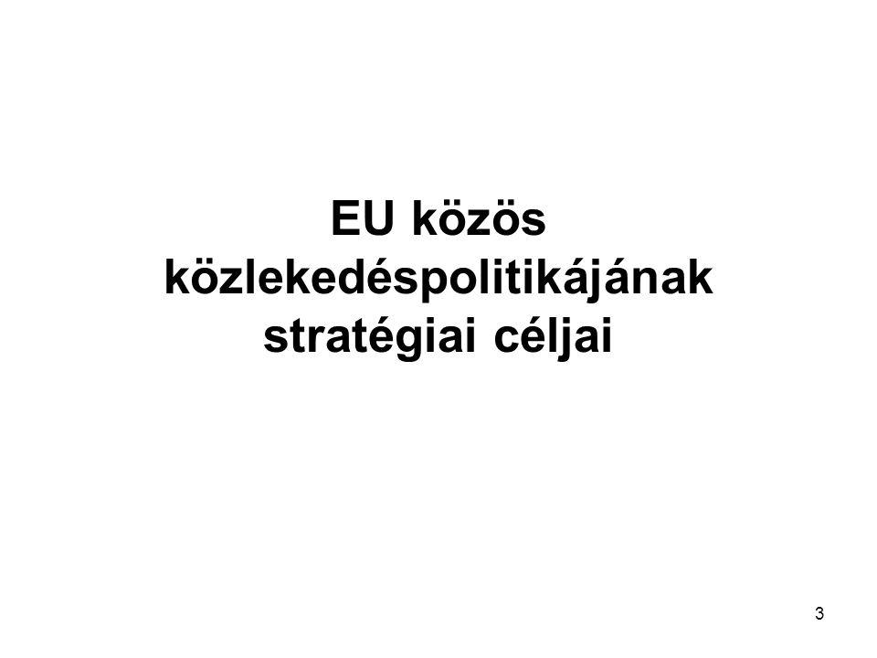 3 EU közös közlekedéspolitikájának stratégiai céljai