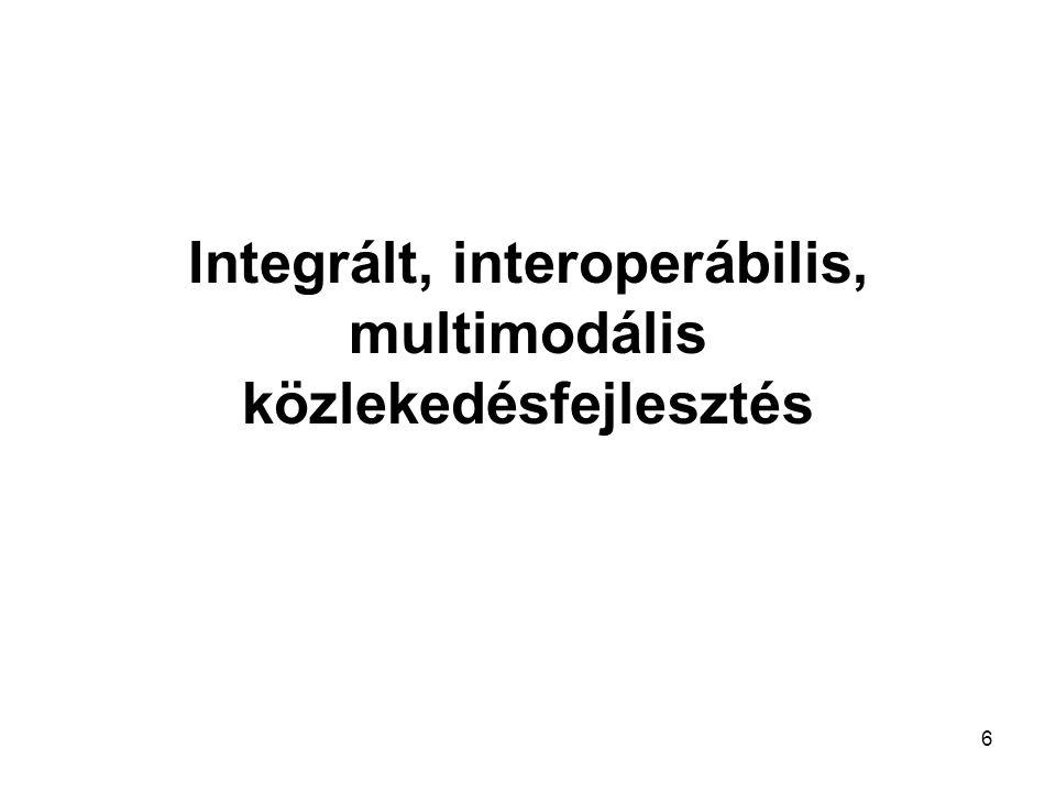 6 Integrált, interoperábilis, multimodális közlekedésfejlesztés