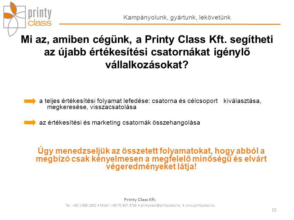 Mi az, amiben cégünk, a Printy Class Kft. segítheti az újabb értékesítési csatornákat igénylő vállalkozásokat? a teljes értékesítési folyamat lefedése