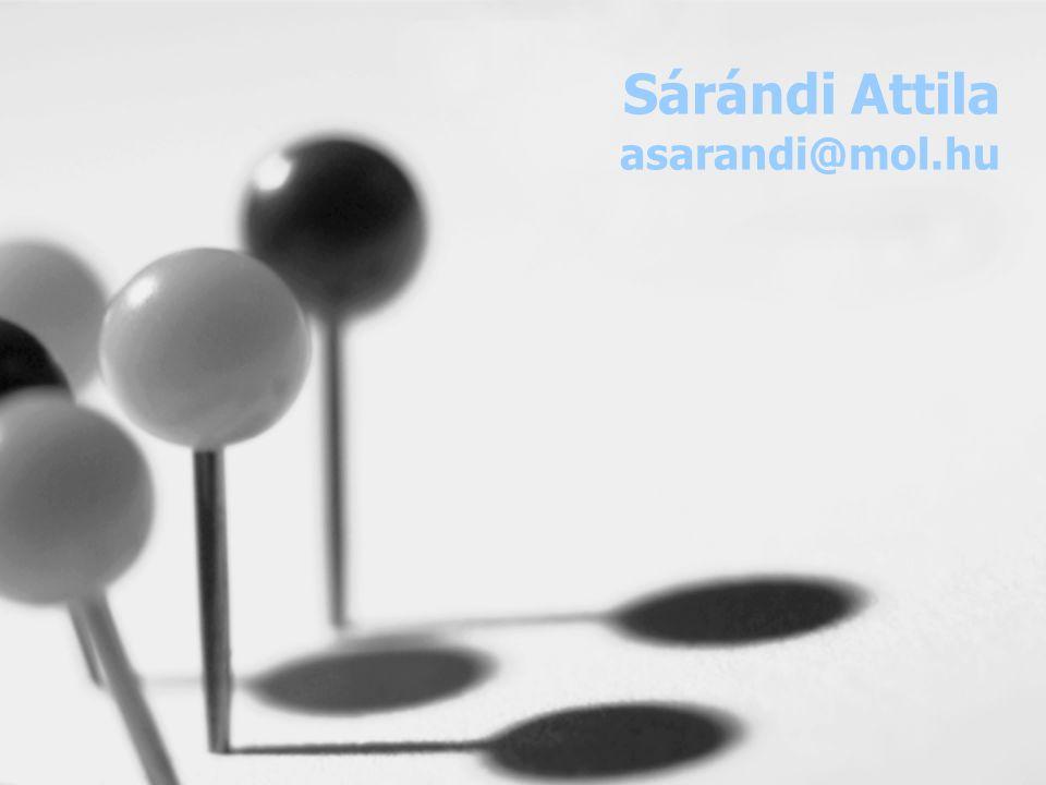 Sárándi Attila asarandi@mol.hu