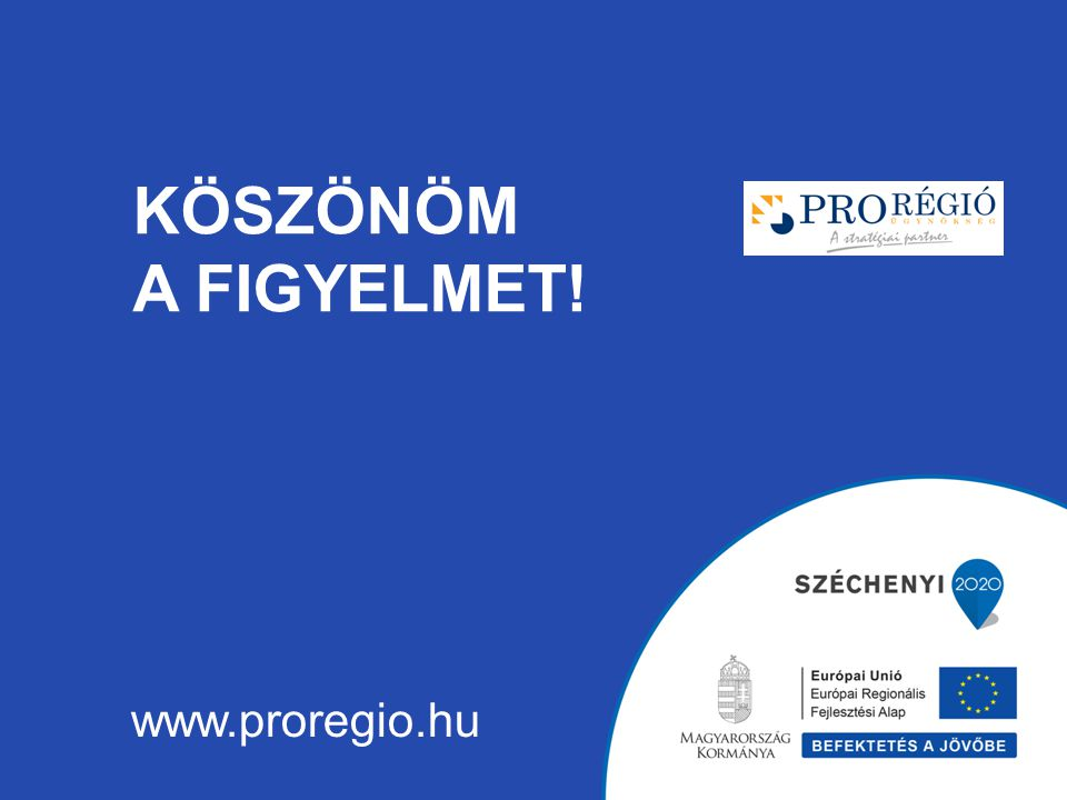 KÖSZÖNÖM A FIGYELMET! www.proregio.hu