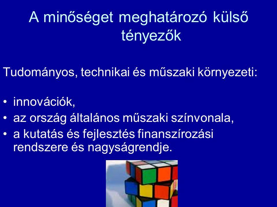 A fő befolyásoló tényezők 5M - ember (Man) - gép (Machines) - anyag (Materials) - módszer (Methods) - mérés (Measurements)