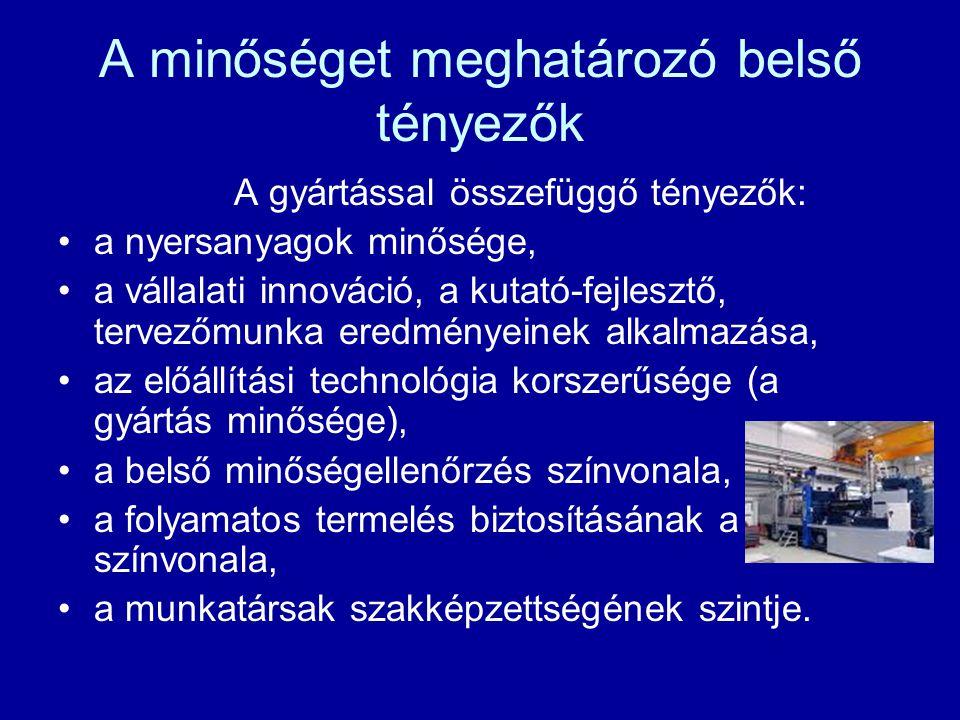 Megkülönböztető minőségjelek 3) védjegy Piacképes magyar termékek esetén alkalmazzák.