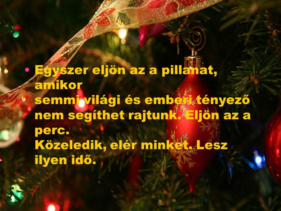 Jön a karácsony Jön a karácsony. Időről időre szeretteink körében ünneplünk. De lesz idő, amikor az igazi barátok sem állnak ki mellettünk.