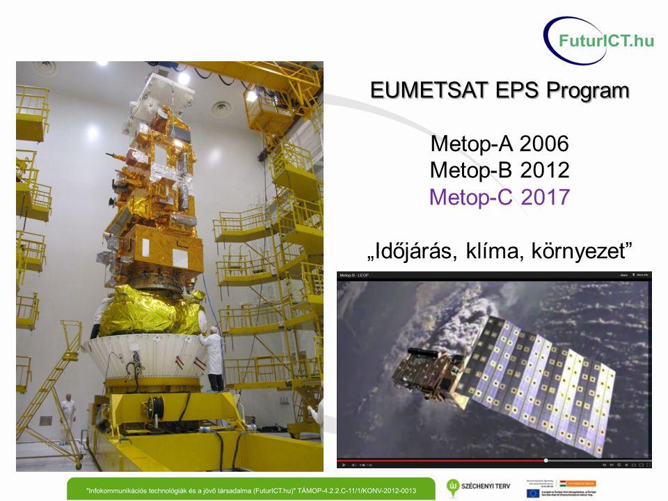 """EUMETSAT EPS Program Metop-A 2006 Metop-B 2012 Metop-C 2017 """"Időjárás, klíma, környezet"""