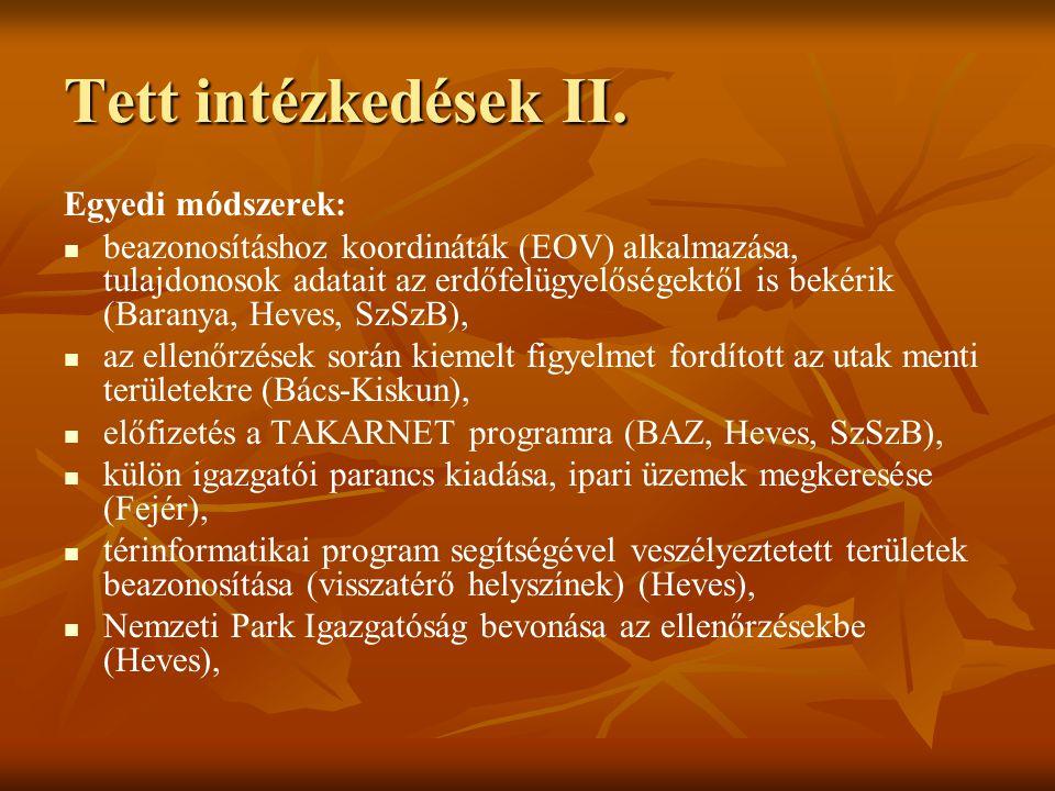 Tett intézkedések II.