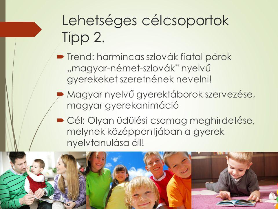 Lehetséges célcsoportok Tipp 2.