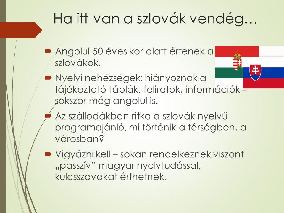 Ha itt van a szlovák vendég…  Angolul 50 éves kor alatt értenek a szlovákok.