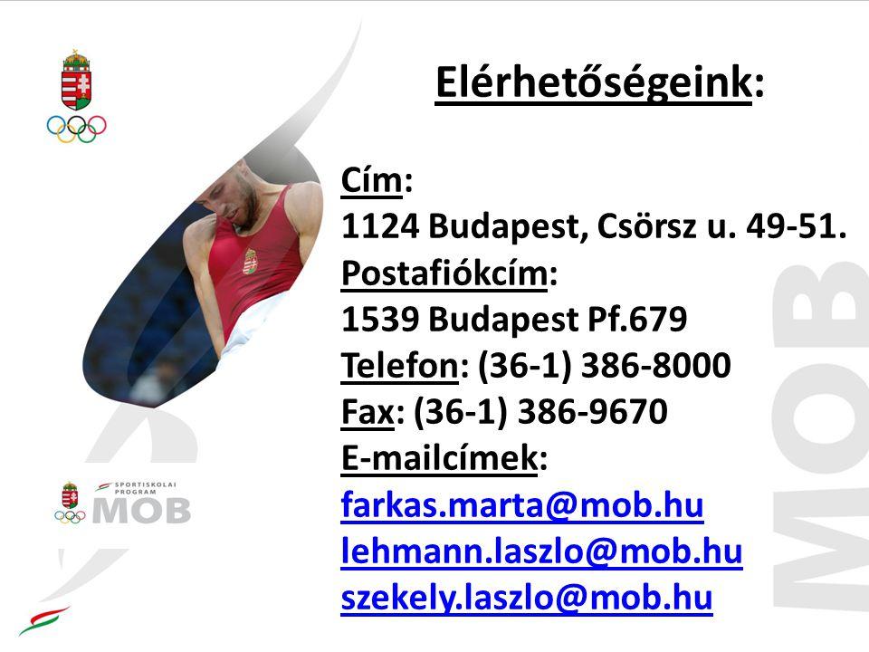 Elérhetőségeink: Cím: 1124 Budapest, Csörsz u.49-51.