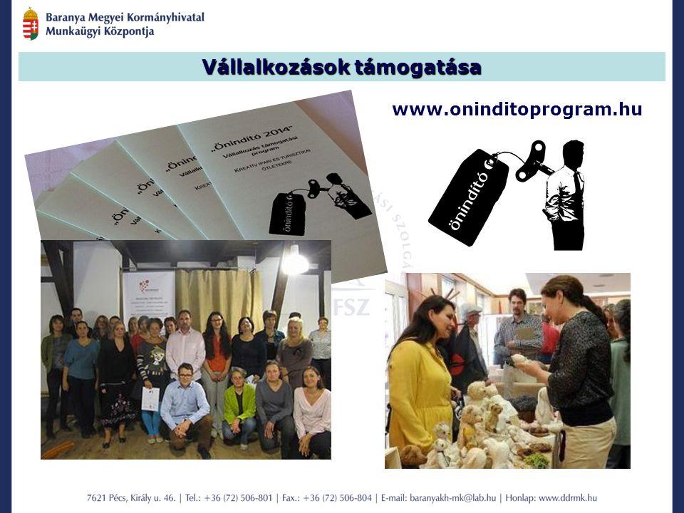 Vállalkozások támogatása www.oninditoprogram.hu