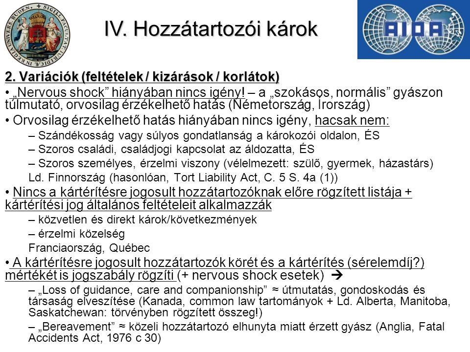 IV.Hozzátartozói károk 2.