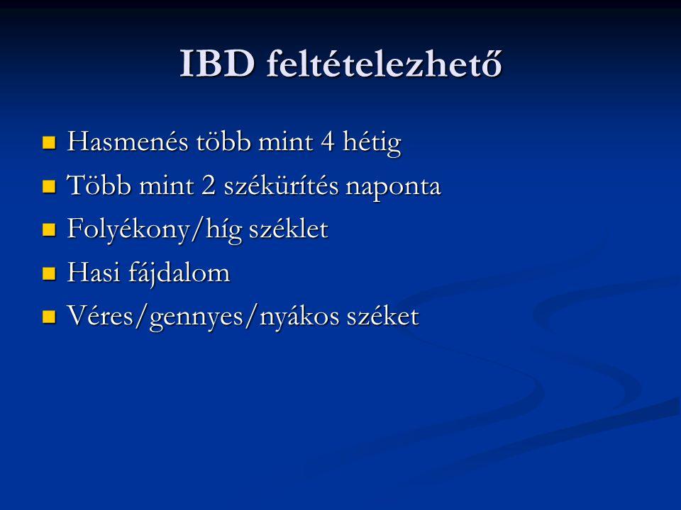 Colitis ulcerosa sebészi kezelése Acut esetben: Acut esetben: Hartmann műtét Hartmann műtét Proctocolectomia Proctocolectomia Elektív műtétek: Elektív műtétek: Proctocolectomia végleges ileostomával Proctocolectomia végleges ileostomával Total colectomia ileo-rectalis anastomosissal Total colectomia ileo-rectalis anastomosissal Proctocolectomia ilealis reservoirképzés,ileo-analis anastomisis Proctocolectomia ilealis reservoirképzés,ileo-analis anastomisis Proctocolectomia, Koch-reservoir Proctocolectomia, Koch-reservoir