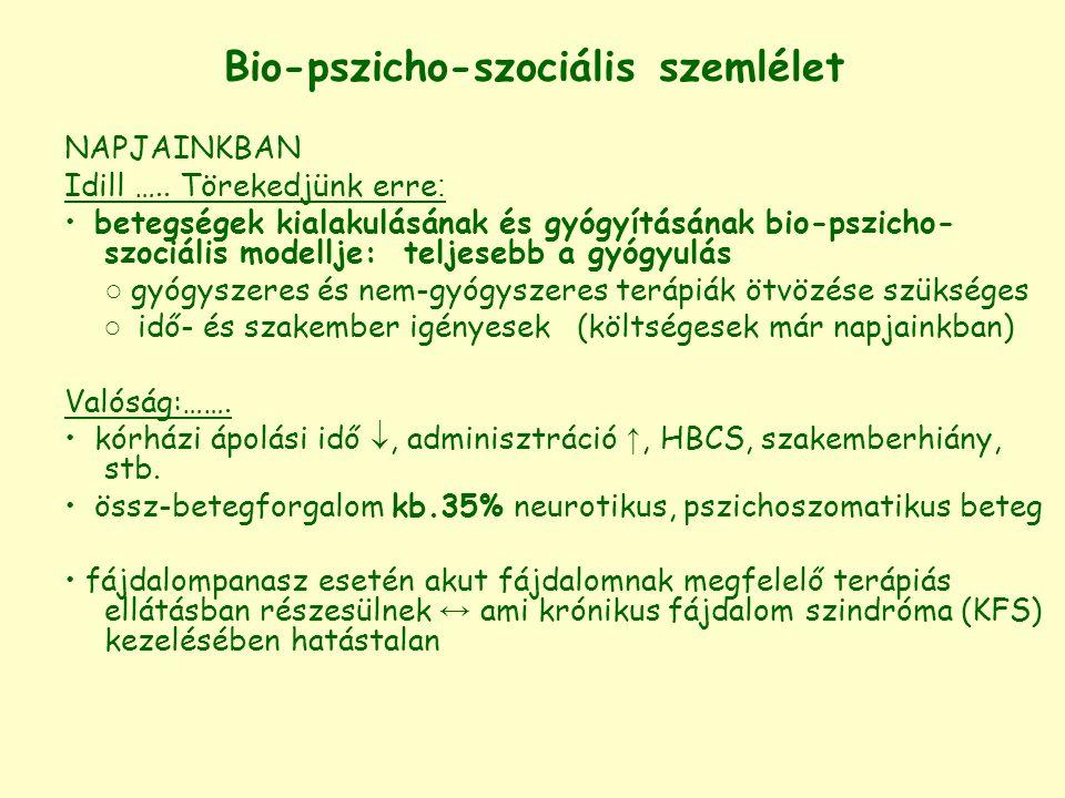 Bio-pszicho-szociális szemlélet NAPJAINKBAN Idill ….. Törekedjünk erre : betegségek kialakulásának és gyógyításának bio-pszicho- szociális modellje: t