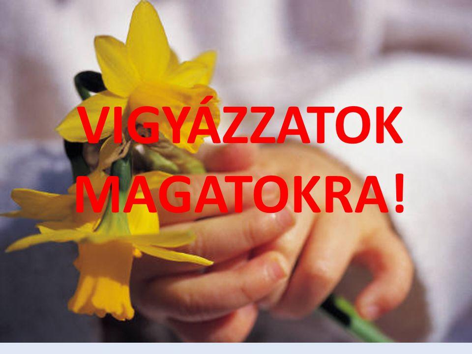 VIGYÁZZATOK MAGATOKRA!