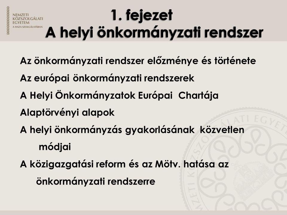 A magyar polgári önkormányzati rendszer: község, város, főváros polgári vármegyei közigazgatás törvényhatósági jogú városok A tanácsrendszer jellemzői: tanácstörvények képviseleti szerv, végrehajtó bizottság, szakigazgatási szervek alárendeltségi viszonyai