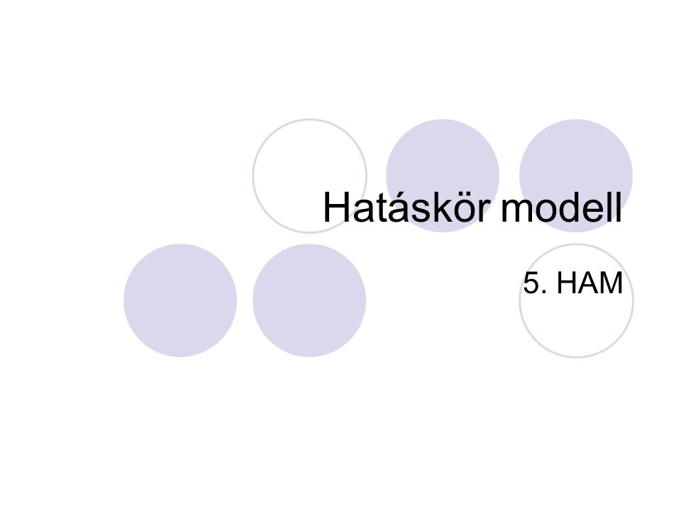 Hatáskör modell 5. HAM