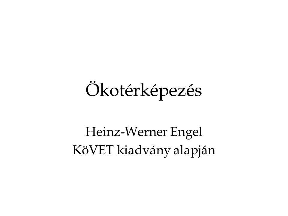 Ökotérképezés Heinz-Werner Engel KöVET kiadvány alapján