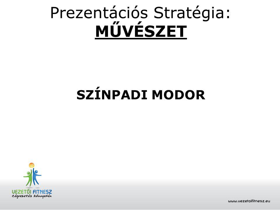 Prezentációs Stratégia: MŰVÉSZET SZÍNPADI MODOR
