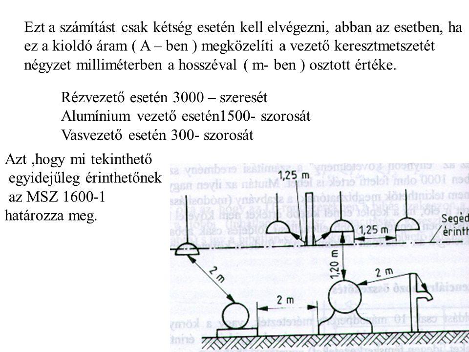Ezt a számítást csak kétség esetén kell elvégezni, abban az esetben, ha ez a kioldó áram ( A – ben ) megközelíti a vezető keresztmetszetét négyzet mil