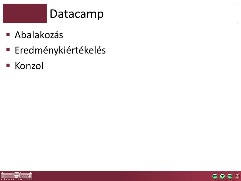 Abalakozás  Eredménykiértékelés  Konzol Datacamp