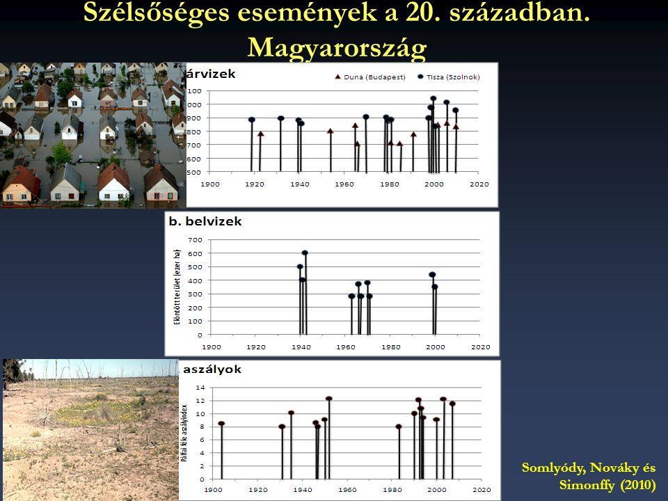 Szélsőséges események a 20. században. Magyarország Somlyódy, Nováky és Simonffy (2010)
