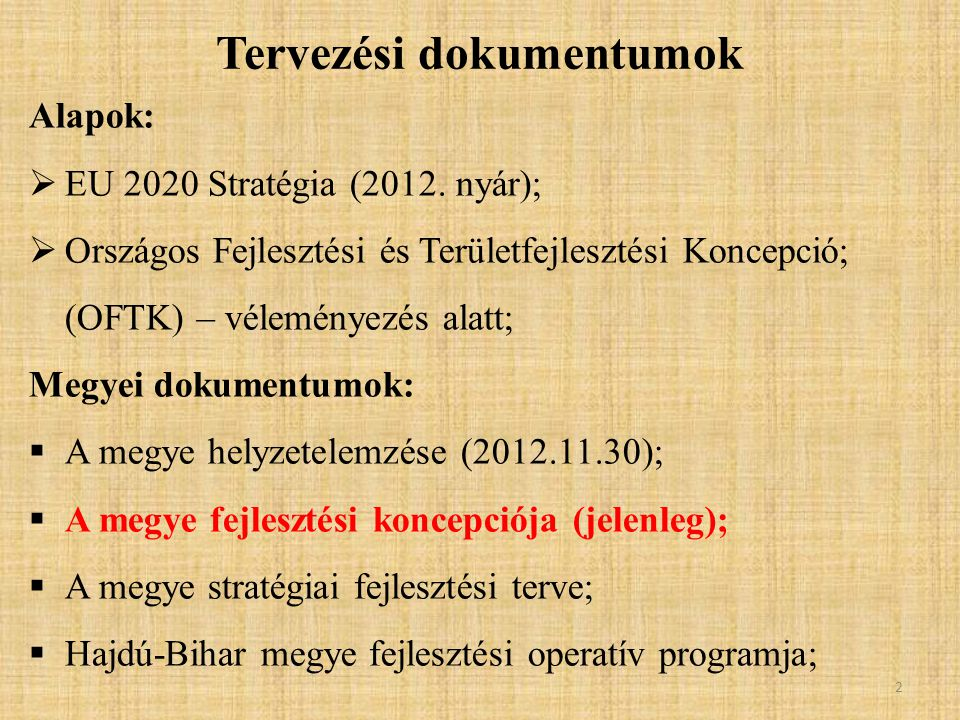 Alapok:  EU 2020 Stratégia (2012.