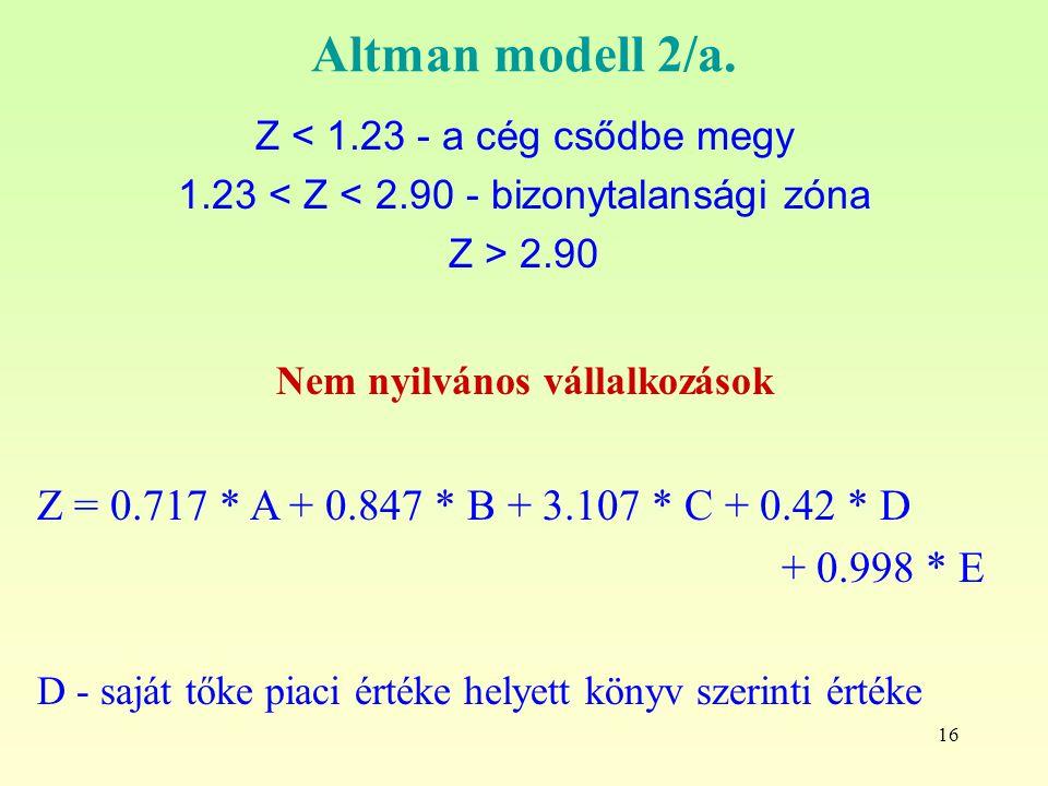 16 Altman modell 2/a.