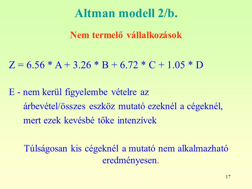 17 Altman modell 2/b.