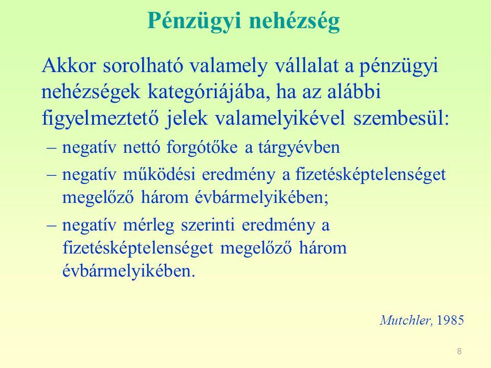 9 Csődelőrejelzés IV.
