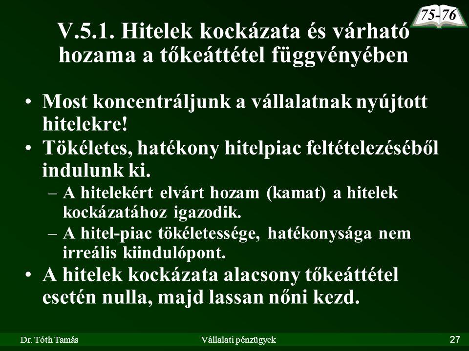 Dr. Tóth TamásVállalati pénzügyek27 V.5.1.