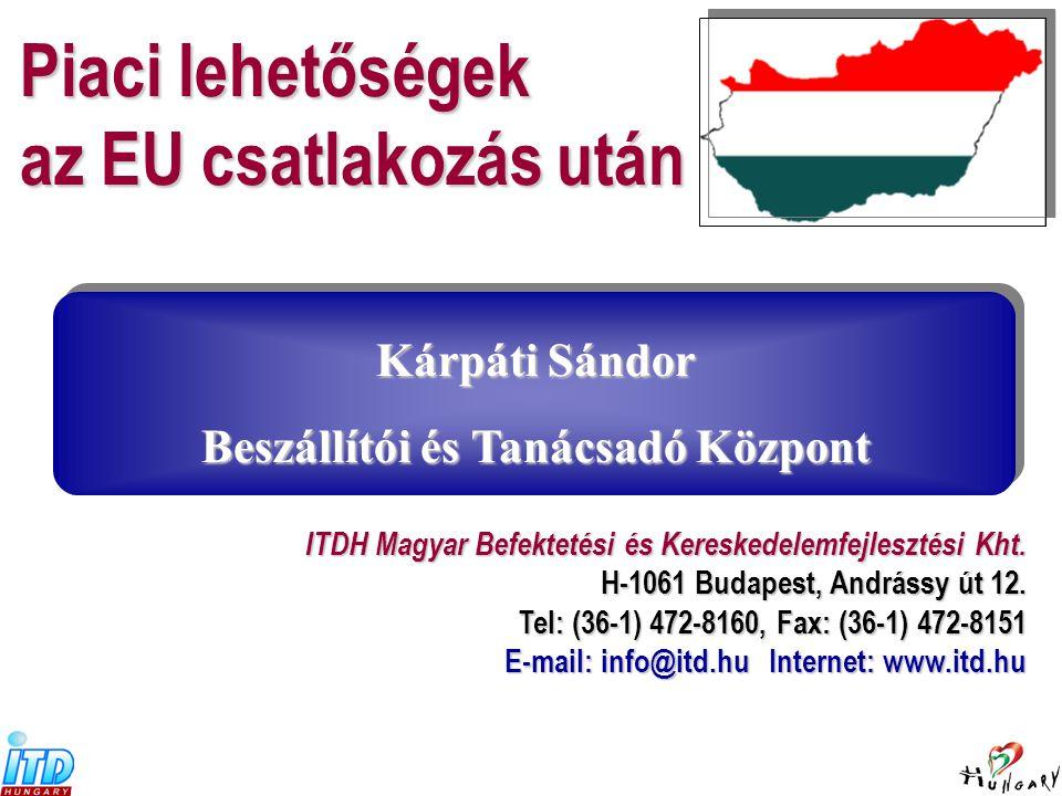  európai mintára épülő  kiterjedt bel- és külföldi hálózattal és információs bázissal rendelkező  befektetés-ösztönzés és kereskedelemfejlesztéssel foglalkozó  non profit  információnyújtó tanácsadó és szolgáltató szervezet.