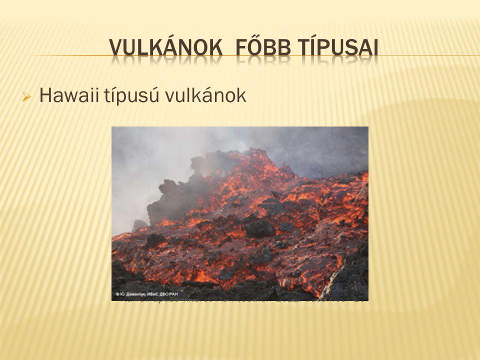  Hawaii típusú vulkánok Hawaii-típusú kitörés Kamcsatkán 2012. december 15.