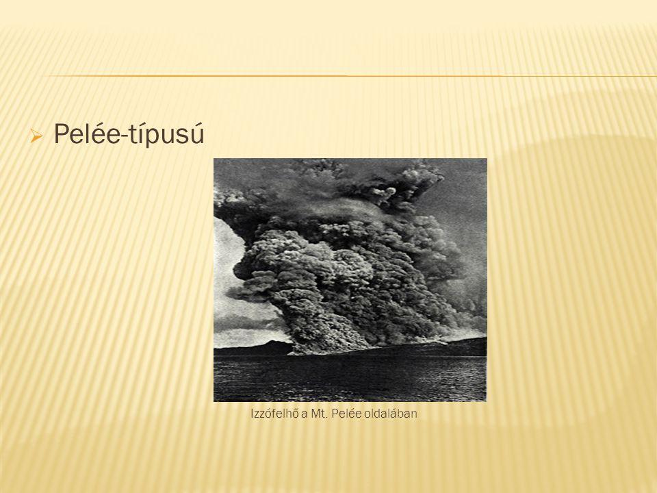  Pelée-típusú Izzófelhő a Mt. Pelée oldalában