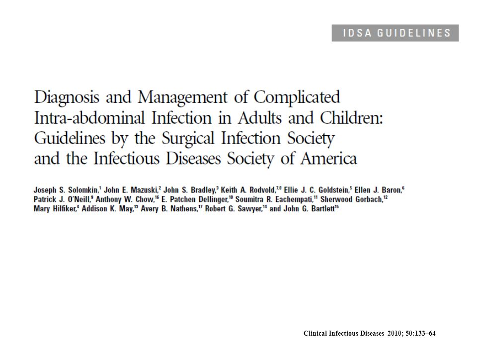 Clinical Infectious Diseases 2010; 50:133–64