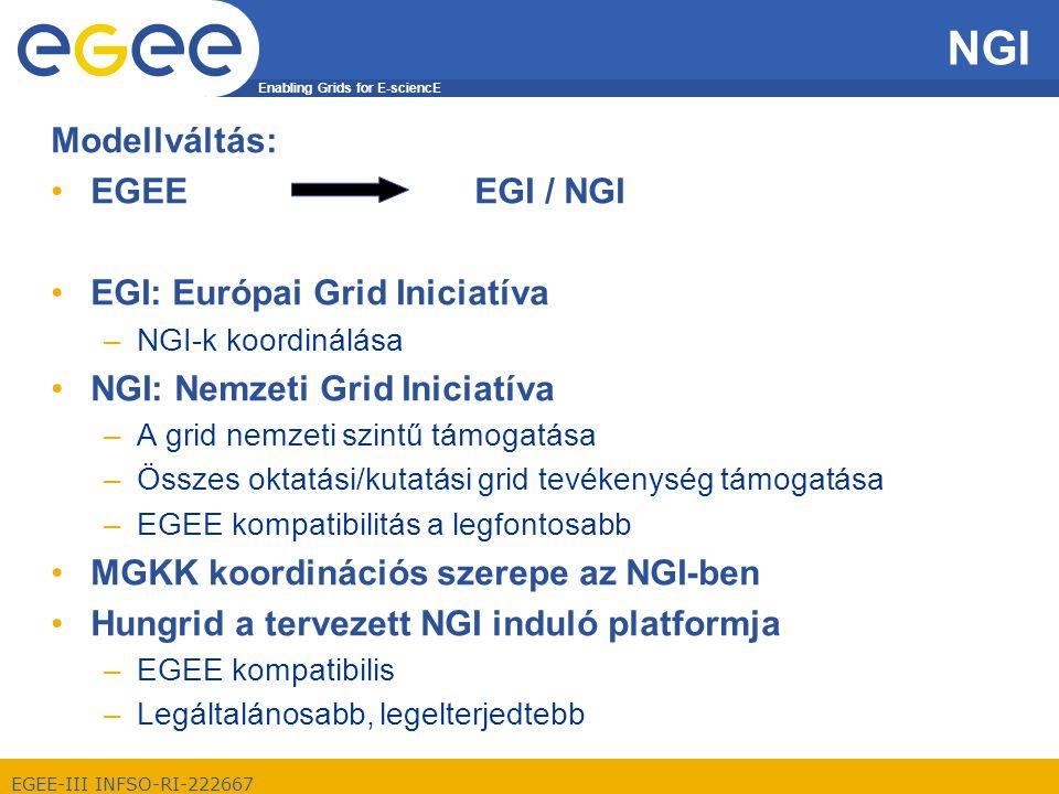 Enabling Grids for E-sciencE EGEE-III INFSO-RI-222667 Hungrid célok az NGI tükrében 1.